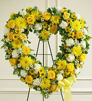 Heart Shape Funeral Wreath