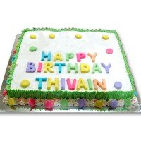 Birthday Square Cake 2Kg