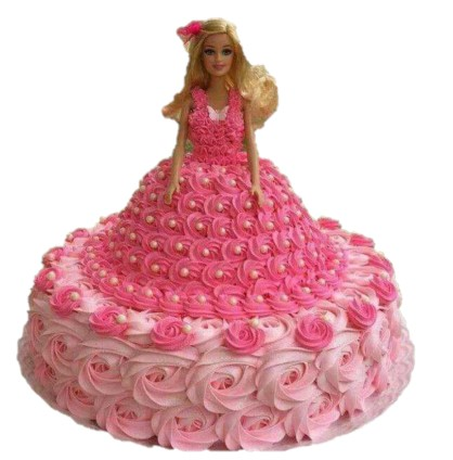 Barbie Girl in Pink Cake - 3Kg