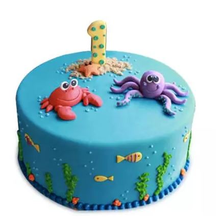 Baby Sea Animals Cake