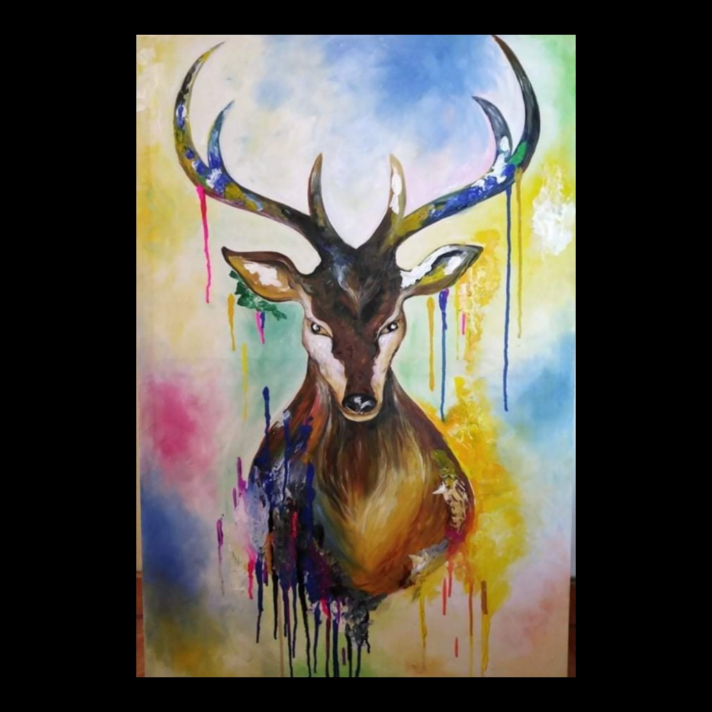 Colorful Deer Paint