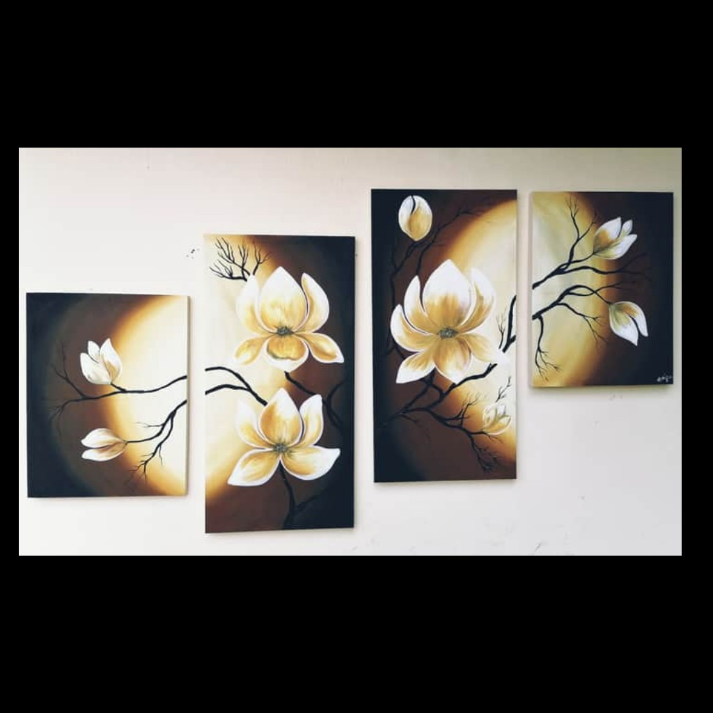 Flower Wall Art 4Pcs