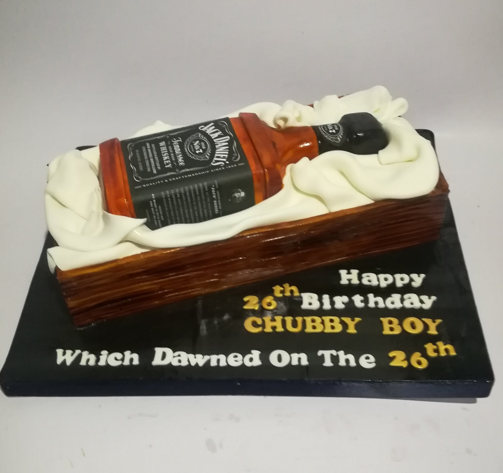Jack Daniels Whiskey Bottle Cake-3Kg