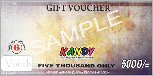 Gift Vouchers -Rs 5000/=