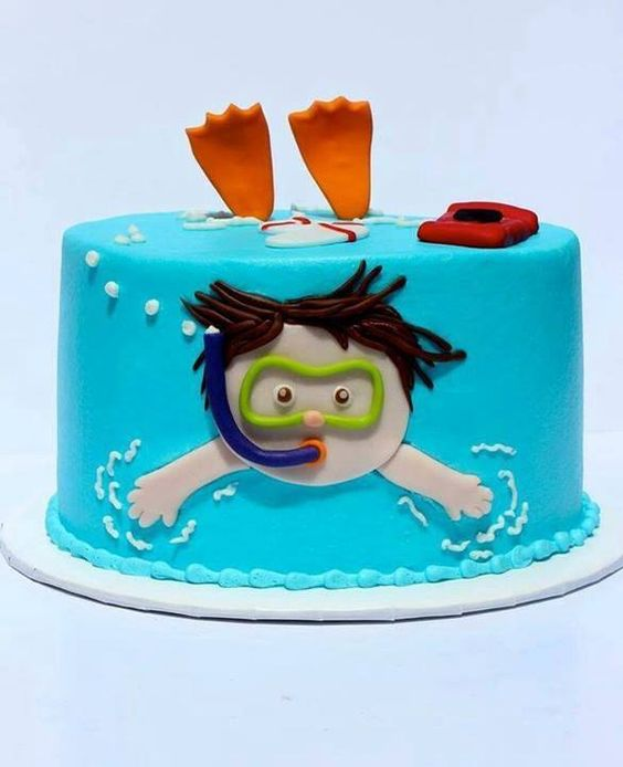 Little Swimmer cake