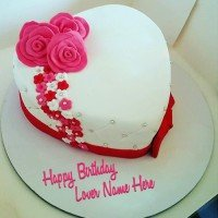 Lover Roses Birthday Cake