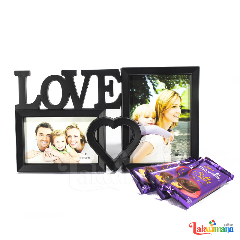 Loving Heart Photo Frame With Cadbury