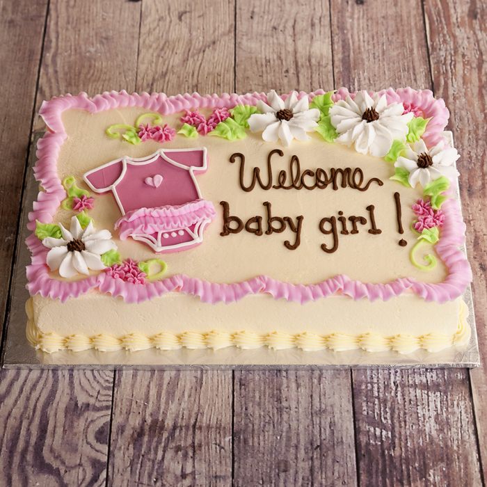 Welcome Baby Girl Cake 2kg
