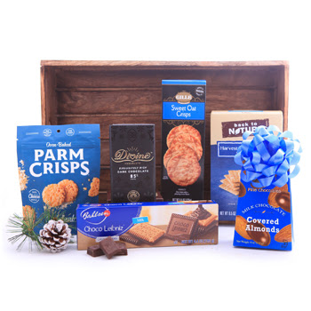 Wintry Blue Corporate Basket
