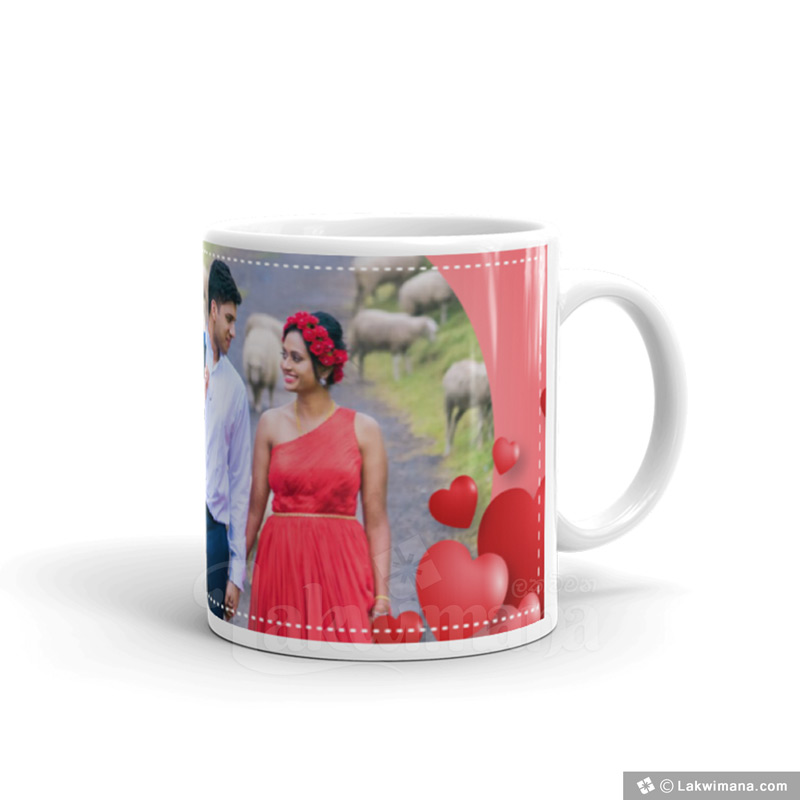 You & Me Personalized Red Mug