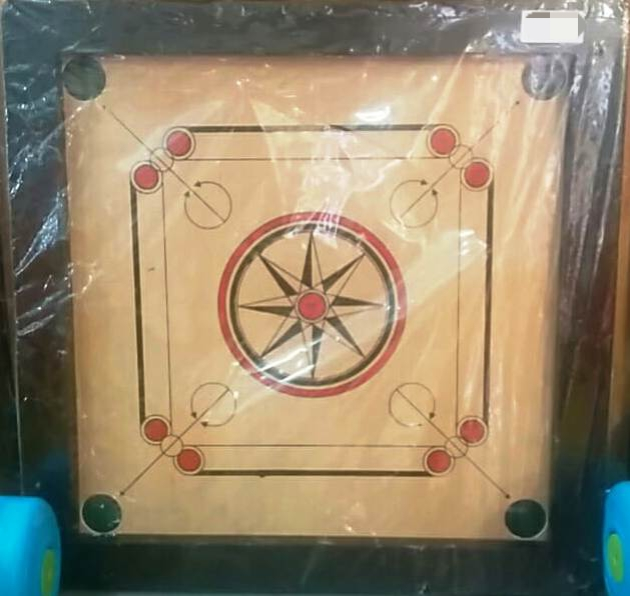 Wooden Kids Square Carrom Board