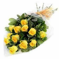 12 Yellow Roses Bunch with Love
