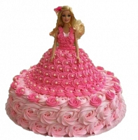 Barbie Girl in Pink Cake