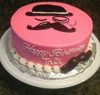 Beard pink birthday cake 1.5kg