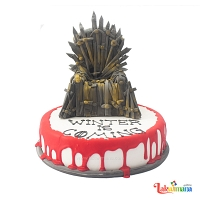 "Game of Thrones ""Iron Throne"" Cake"