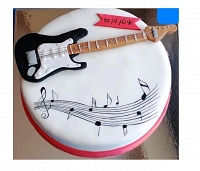 Make me happy Guitar cake