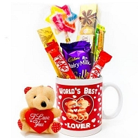 choco mug with cute teddy