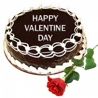 Valentine Choco Cake with Rose