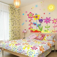 Colorful Flowers of Sunshine Life Wall Sticker