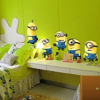 Minions Despicable Me 2 Removable Wall Stickers
