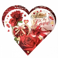 Red Heart Shape My Love 3D Card