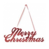 Glittered Merry Christmas Sign