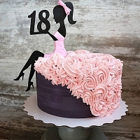 18th Birthday Cake for Girl
