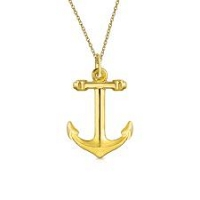 22 K Gold Pendent- Anchor