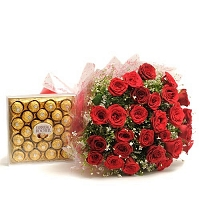 40 Red Roses And Chocolates