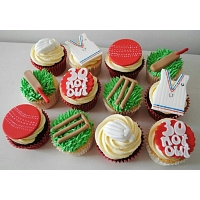 Cricket Theme Cup Cakes