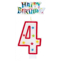 4 Year Happy Birthday Card