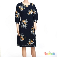 Ladies Orange Floral Dress