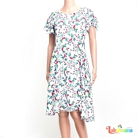 Ladies white Floral Dress