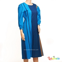 Ladies Handloom Blue Dress