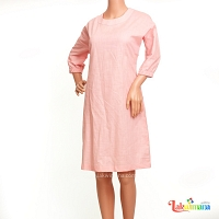 Ladies Cotton Pink Dress