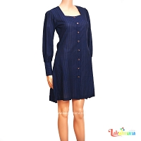 Ladies Dark Blue Check Dress