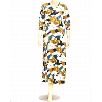Ladies Yellow Floral  Dress