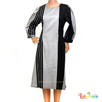 Ladies Handloom Ash Black Dress