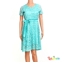 Ladies Lace blue Floral  Dress