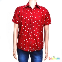 Mens Casual Hearts Shirt