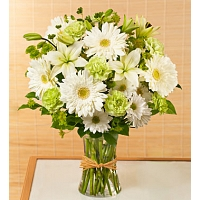 Sympathy flower bunch- white