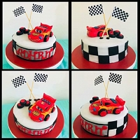 Lightning McQueen Racing Car Cake 2kg