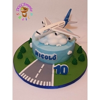 Airplane Theme Birthday Cake