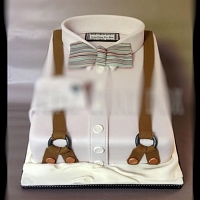Suspender with Bow cake