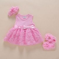 Baby Girl Dress with Shoes