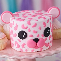 Baby Pink Leopard Cake