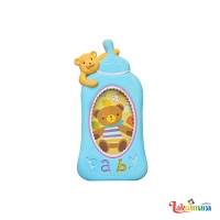 Baby Bottle Photo Frame Blue