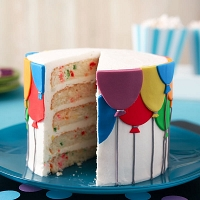 Birthday Balloons Layered Cake