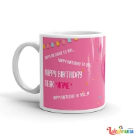 Birthday Song Pink Mug