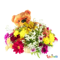 Birthday Smiles Mix Flower Basket